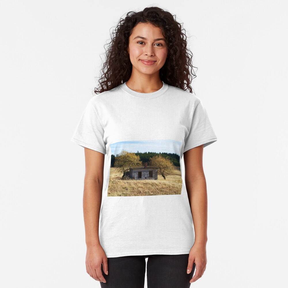 Small house with two trees Classic T-Shirt
