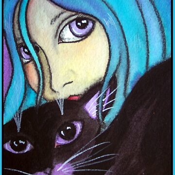 Blue and Her Cat by dreamlyn