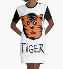 Cute tiger Graphic T-Shirt Dress