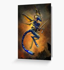 Dragonfly Devil Greeting Card
