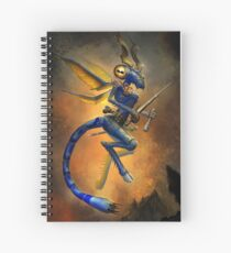 Dragonfly Devil Spiral Notebook