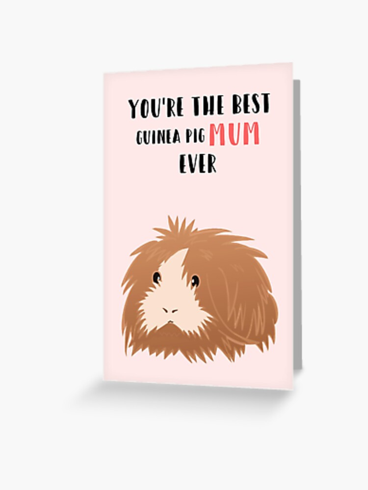 bac4d413 Mother's Day from the Guinea Pig - Best Mum - Guinea Pig - Pet - from