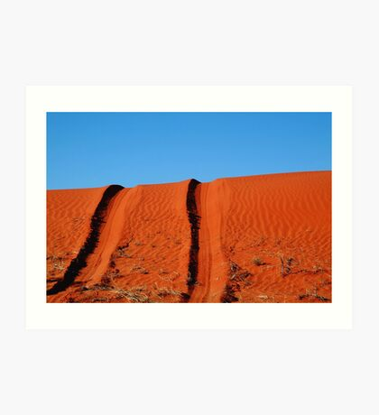 Up and Over,Madigan Line Simpson Desert Art Print