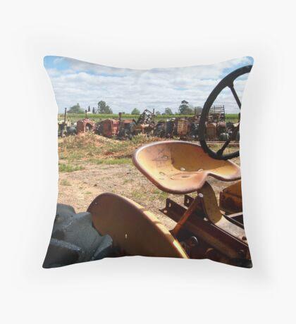 Tractor Heaven Throw Pillow