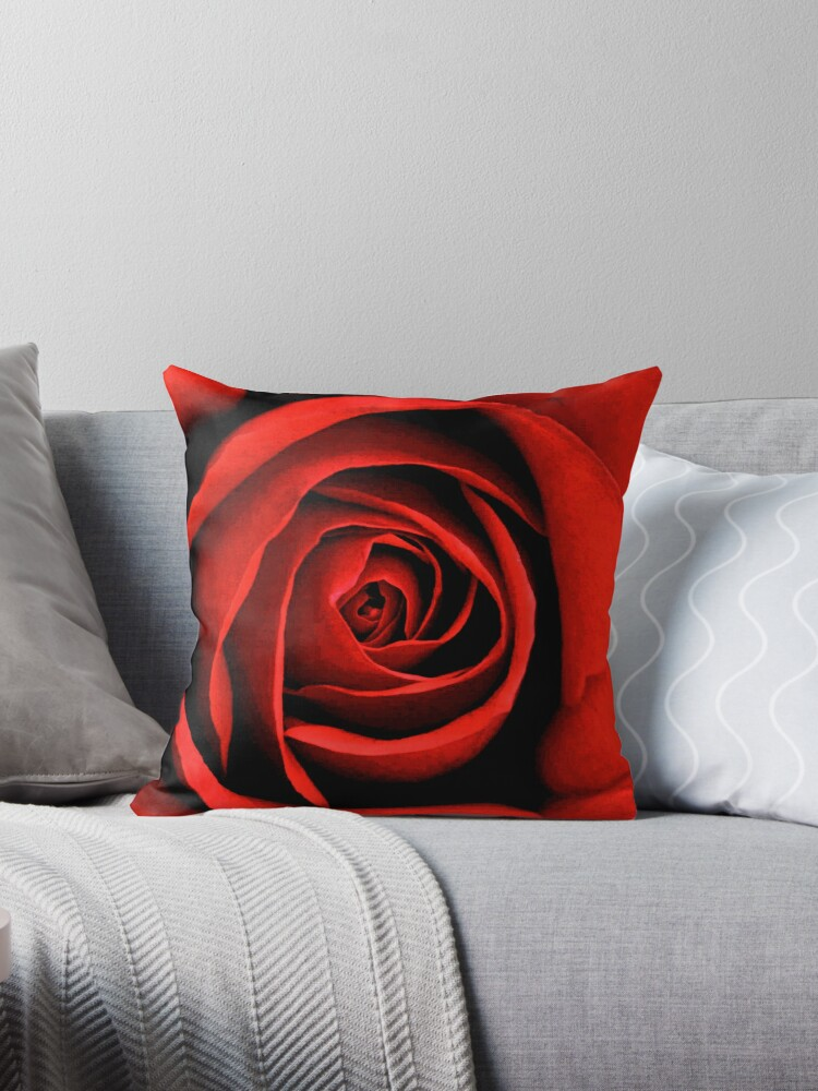 Quot Red Rose Petals Quot Throw Pillows By Tackytiethings Redbubble