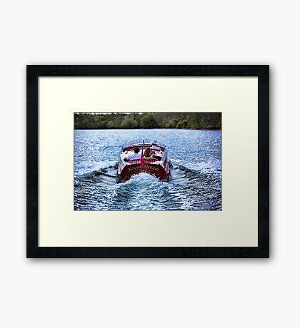Boating at Sunset Framed Print