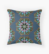 Red Star Dot Mandala - Art&Deco By Natasha  Throw Pillow