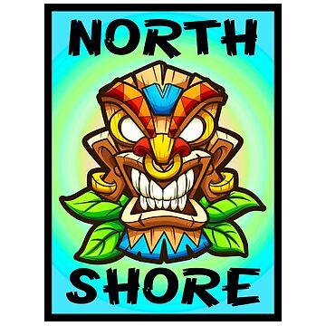 Surfing North Shore Tiki Surf Hawaii Ehukai Beach Banzai Pipeline by MyHandmadeSigns