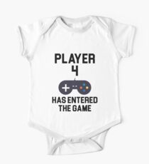 Player 4 Short Sleeve Baby One-Piece