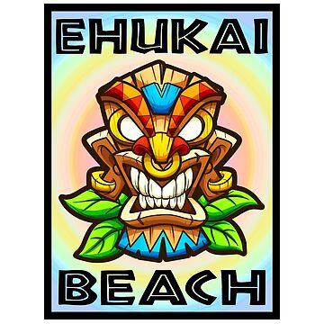 Surfing Ehukai Beach Tiki Surf Hawaii North Shore Banzai Pipeline by MyHandmadeSigns