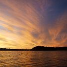 Cloud Spray at Sunset - Caning River, Perth, Western Australia by Karen Stackpole