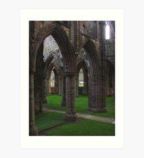 Archway Labyrinth, Tintern Abbey ~ Wye Valley, Monmouthshire 2009 Art Print