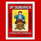 1930s Belgian liqueur with Mechelen doll ad  by aapshop