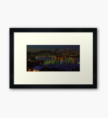 Night Light - Moods Of A City - The HDR Experience Framed Print