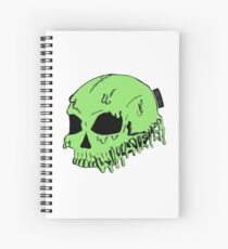 Dripping With Sarcasm - Green Skull Spiral Notebook