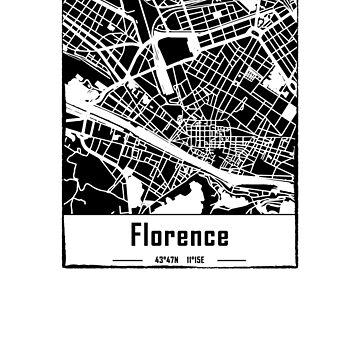 Florence Italy city map by IvonDesign