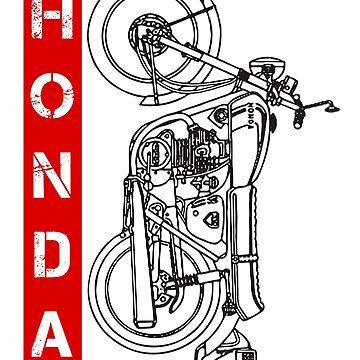 Vintage Honda Motorcycle by benhonda