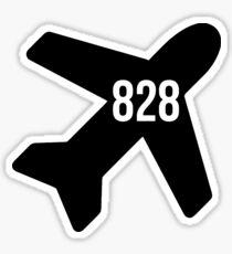 Flug 828 Sticker