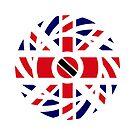 British Trinidadian Multinational Patriot Flag Series by Carbon-Fibre Media