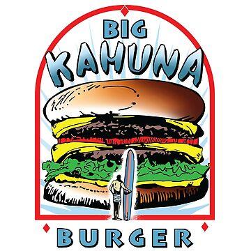 "Big ""KAHUNA"" Burger On Sesame Light by Purakushi"