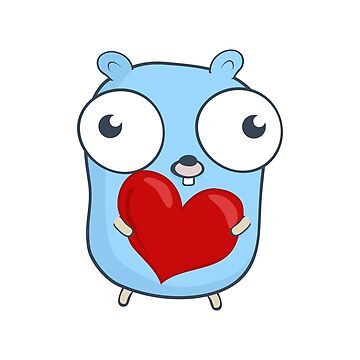 The Golang Mascot: Heart Hug by hellkni9ht