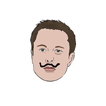 Elon Muskstache by Barnyardy