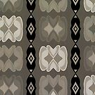 East African Neutral Hearts and Diamonds Pattern by SandAndChi