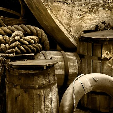 Wood, Barrels and Rope at Busch Gardens by mgurdus