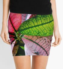 Colorful Abstract Botantical Leaves Photography Mini Skirt