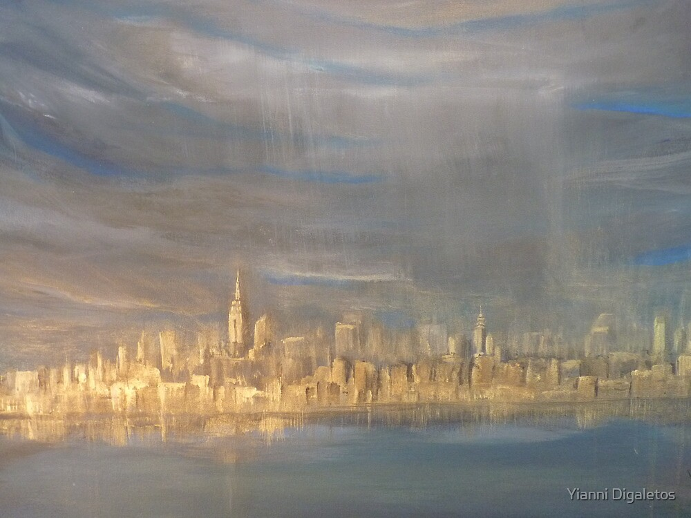 After the Rain- NYC view from Sandy Hook  by Yianni Digaletos