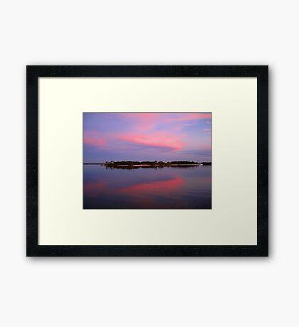 Pink sky after sunset Framed Print