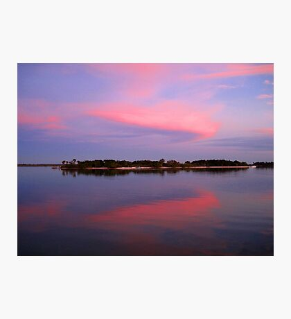 Pink sky after sunset Photographic Print