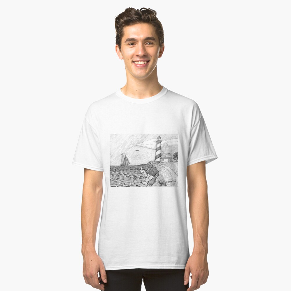 Lighthouse black and white Classic T-Shirt