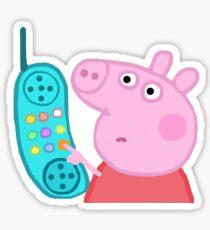 Peppa Pig Up Sticker aufhängen Sticker