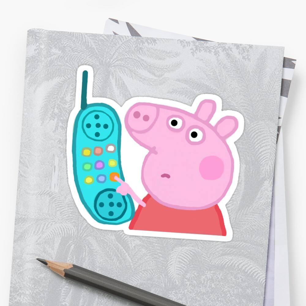 Peppa Pig Hanging Up Sticker Sticker