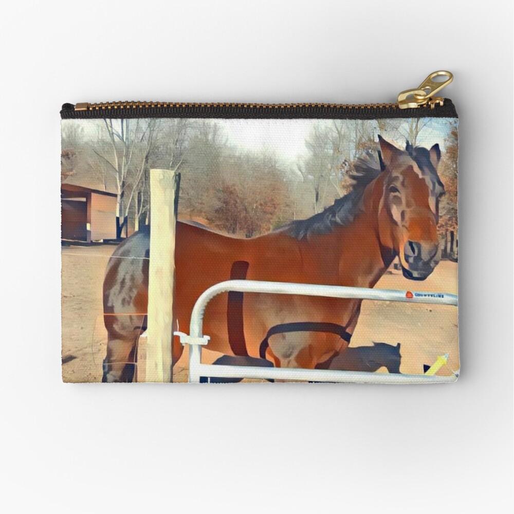 Braunes Pferd Bild Täschchen