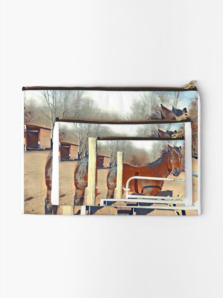 Alternative Ansicht von Braunes Pferd Bild Täschchen
