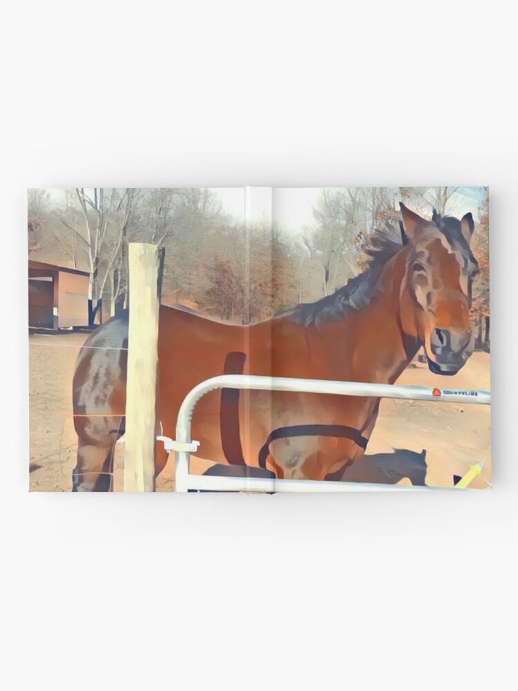 Alternative Ansicht von Braunes Pferd Bild Notizbuch