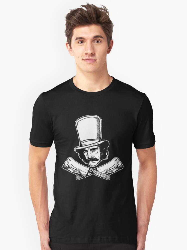 The Butcher (purist Black and White version) Unisex T-Shirt Front