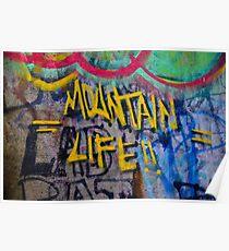Graffiti Wall Art Photography - Mountain Life Poster