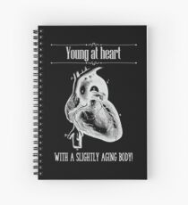 Young At Heart - Reverse Image Spiral Notebook