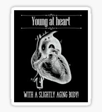 Young At Heart - Reverse Image Sticker