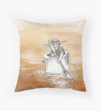 Coffee, Coffee Everywhere and Not a Drop to Drink Throw Pillow