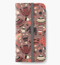 Warm knitted Winter wear seamless pattern Étui portefeuille/coque/skin iPhone