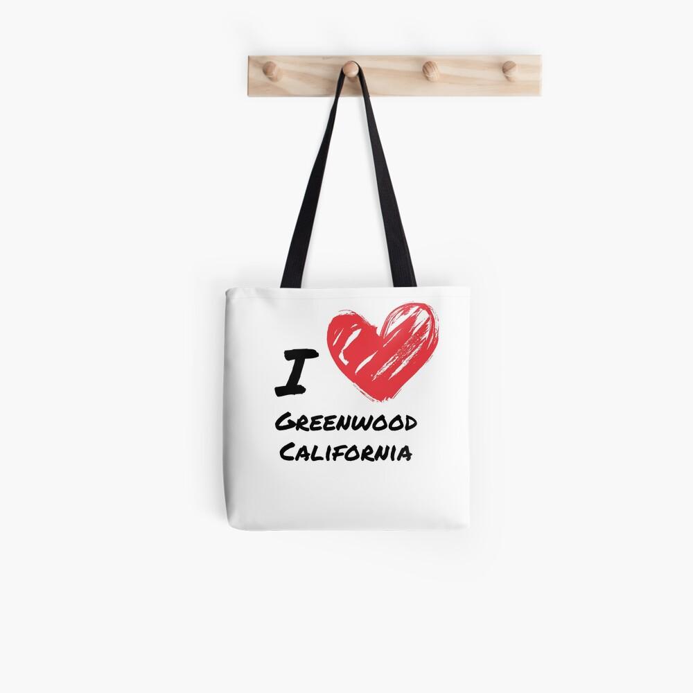 Ich liebe Greenwood Kalifornien Stofftasche