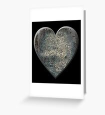 A Distressed Heart Greeting Card