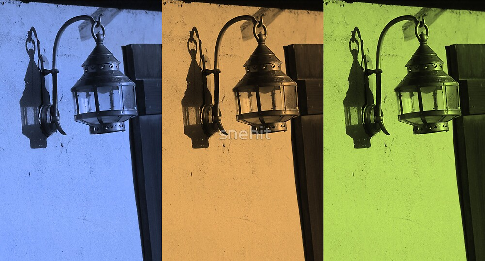 Tricolored Vintage Lamp Abstract by snehit