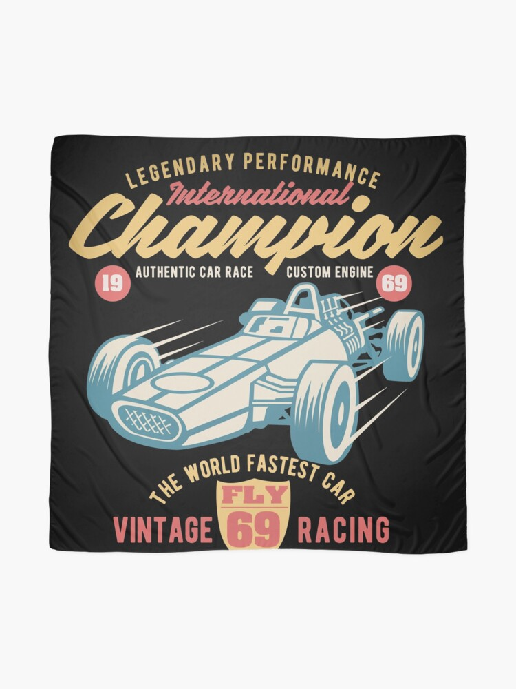 Alternate view of FLY69 Vintage 1969 Racing International Champion Scarf