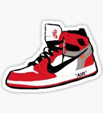 Off-White Jordan 1 Artwork Sticker