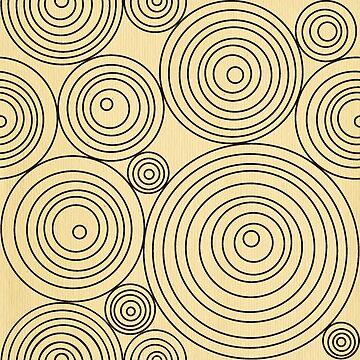 Retro,vintage,circle pattern,geometric,beig,brown,70's era, trendy,modern,fun,contemporary art,digital art by love999
